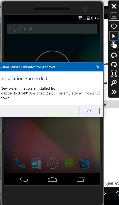 visual studio android emulator play store